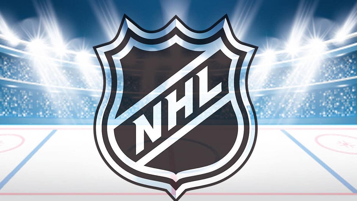 Хоккейная площадка с логотипом NHL